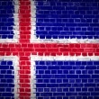 Brick Wall Iceland — Foto de Stock