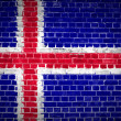 Brick Wall Iceland — Stock Photo