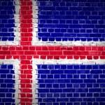 Islandia de pared de ladrillo — Foto de Stock