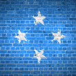 Royalty-Free Stock Photo: Brick Wall Micronesia