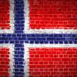 Brick Wall Norway — Stock Photo