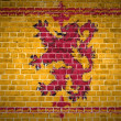 Stock Photo: Brick Wall Scotland Lion Rampant