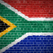 Brick Wall South Africa — Stock Photo
