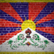 Brick Wall Tibet — Stock Photo