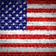 Brick Wall United States — Stock Photo