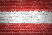 Brick Wall Austria — Stock Photo