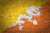 Bhoutan de mur de brique — Photo