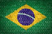 Brick Wall Brazil — Stock Photo