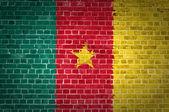Brick Wall Cameroon — Stock Photo