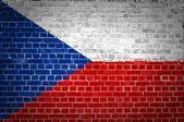 Кирпичной стены Чешской Республики — Стоковое фото