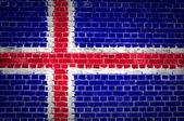 Brick Wall Iceland — Stock Photo