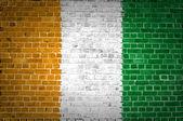 Bakstenen muur-Ivoorkust — Stockfoto