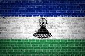 Brick Wall Lesotho — Fotografia Stock