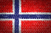 Brick Wall Norway — Stock Photo