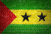 Brick Wall Sao Tome and Principe — Stock Photo