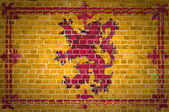 Brick Wall Scotland Lion Rampant — Stock Photo