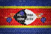 Brick Wall Swaziland — Stock Photo