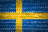 Brick Wall Sweden — Stock Photo