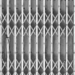 Steel shutters mono - Stock Photo
