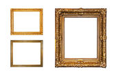 Isolated golden frames — Stock Photo