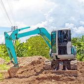 Pequena escavadeira industrial — Foto Stock
