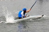 Man in kayak — Stock Photo