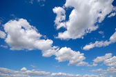 White clouds and blue sky — Stock Photo
