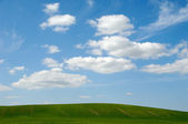 Landscape and clouds — Stock Photo
