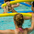Aerobic in pool — Stockfoto #8514258