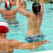Are playing water polo — Stock Photo