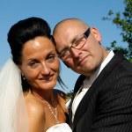 Happy wedding couple — Stock Photo #8514361