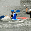 Are playing kayak polo — Stock Photo