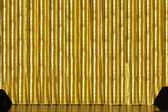 Stage with golden curtain — Stock Photo