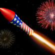 Stock Photo: Firework display