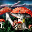 Magic mushrooms - Stock Photo