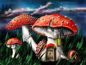 Magic mushrooms — Stockfoto