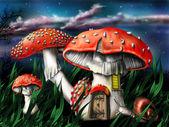 Magiczne grzybki — Zdjęcie stockowe