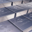 Platinum ingots — Stock Photo