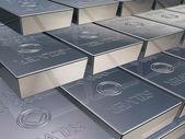 Barras de prata — Foto Stock