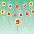 Happy birthday five years — Stock Vector #10094715