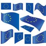 Set of European Union flags — Stock Vector #10378552