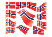 Set of Norwegian flags — Stock Vector
