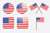 Badges with United States flag — Stock Vector