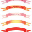 Banners for Day of Valentine — Stock Vector