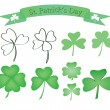 Set of shamrock icons — Stock Vector #8491506