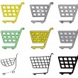 Set of shopping carts — Stock Vector