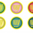 Shopping cart buttons — Stock Vector