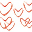 Vecvalentines made of ribbon — Stock Vector #8540790