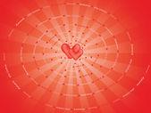 単語の愛の作った螺旋状の背景 — ストックベクタ