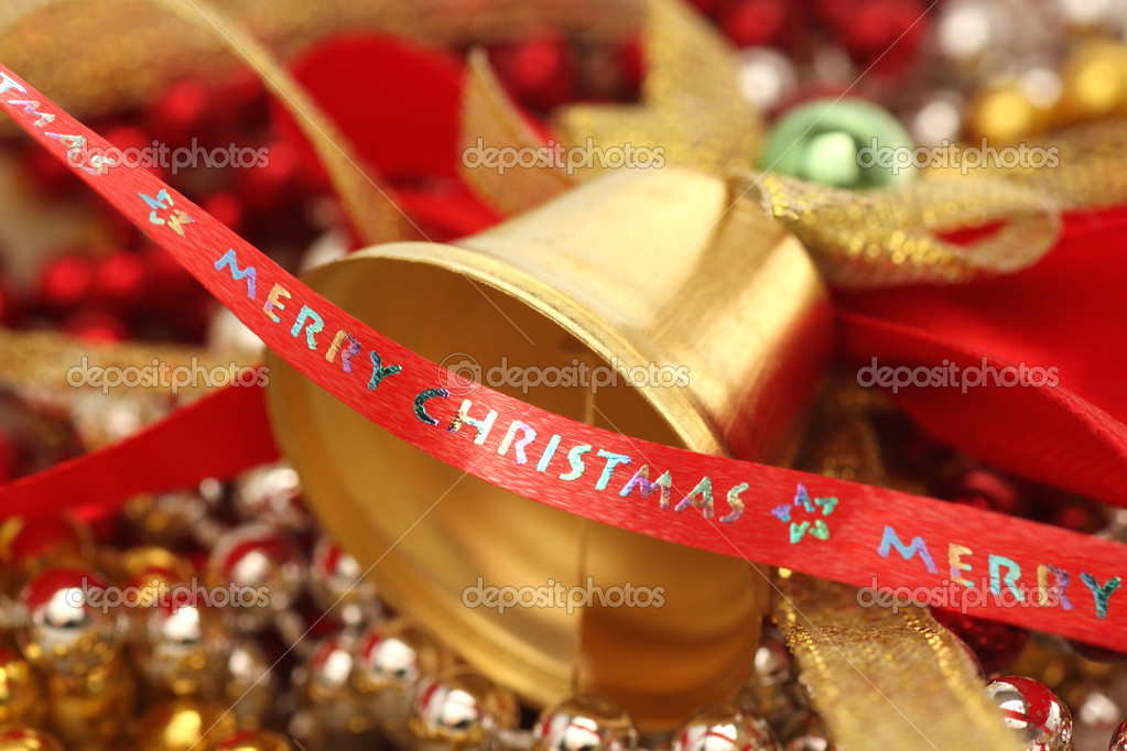 Close up of christmas tree decorations  Stock Photo #8558104
